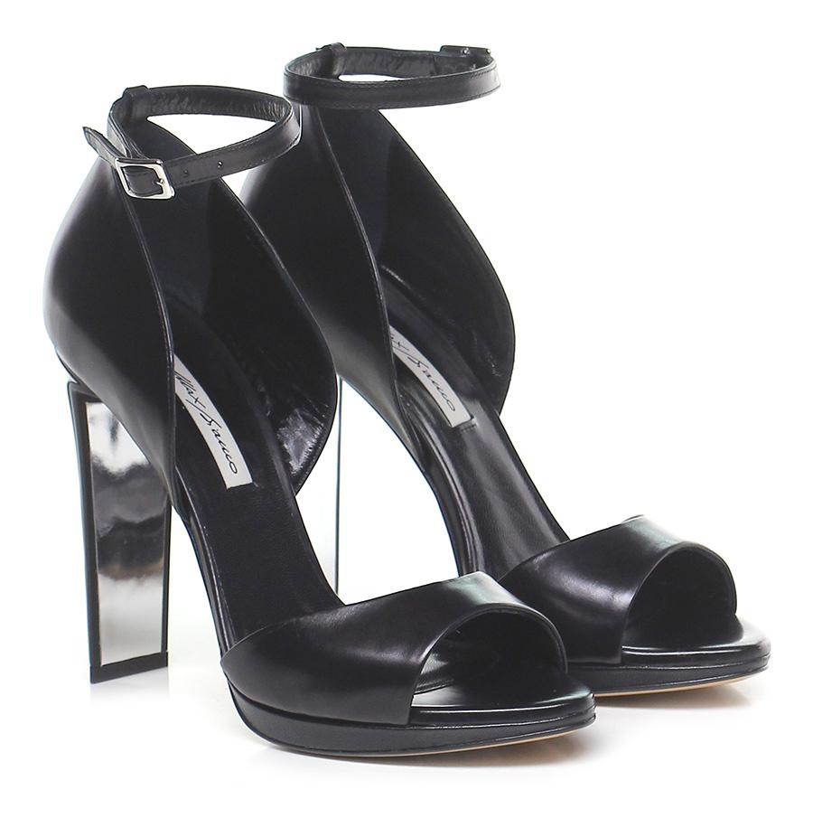 Sandalo alto  Nero Max Bianco