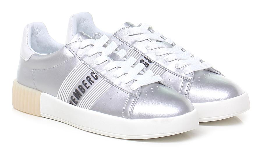 Sneaker Silver/white Bikkembergs Verschleißfeste billige Schuhe