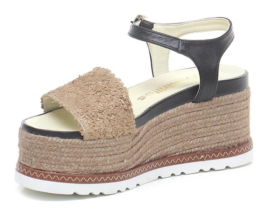 Zeppa Camel/nero Espadrilles billige Mode billige Espadrilles Schuhe 4cd69b