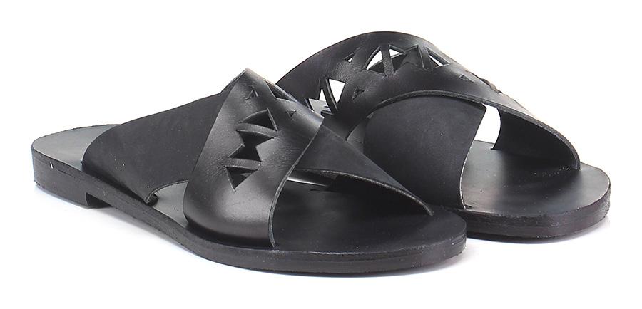 Sandalo basso Black Grecian Chick Hohe Qualität