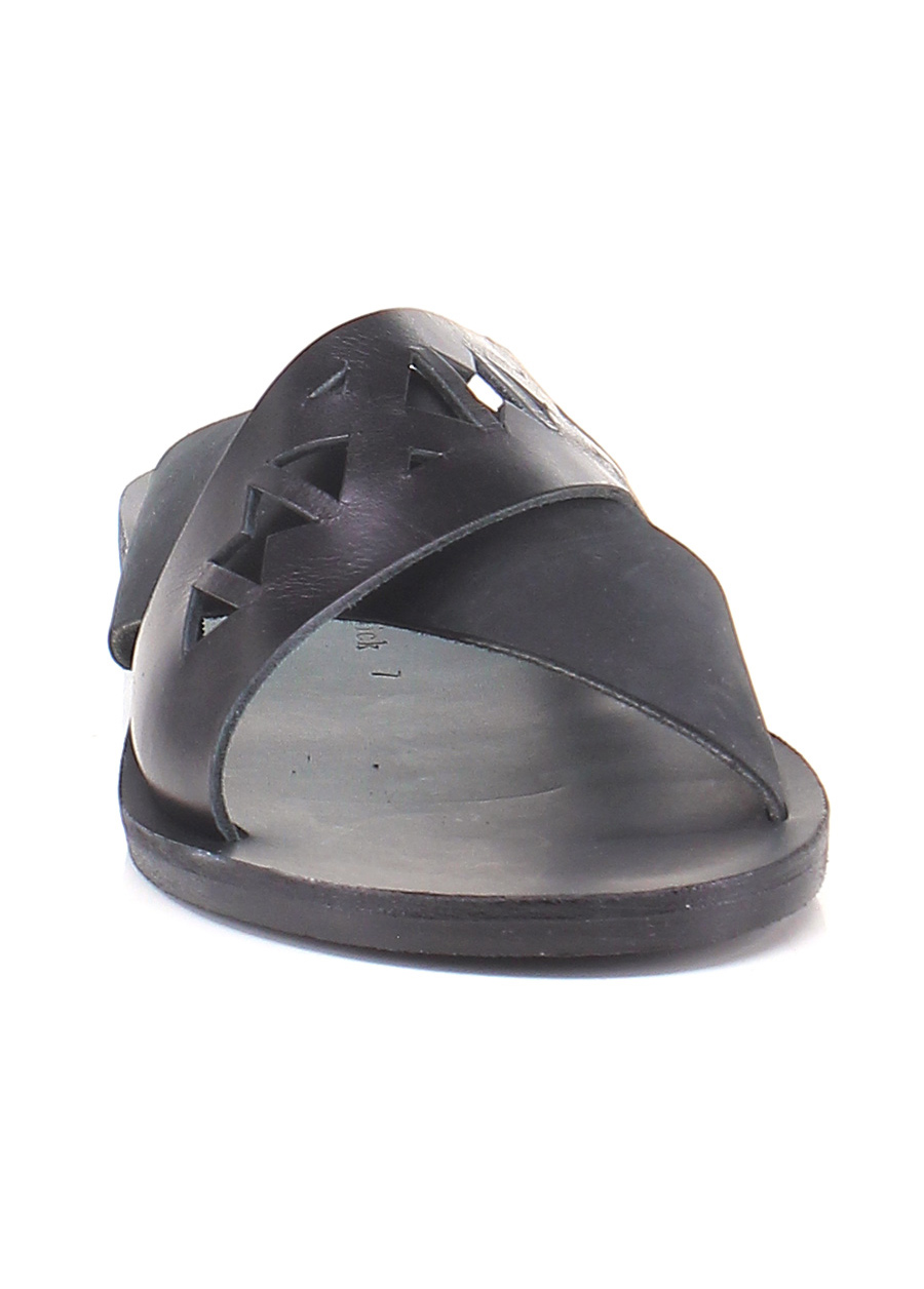 Sandalo Sandalo Sandalo basso Black Grecian Chick Mode billige Schuhe a9cd0a