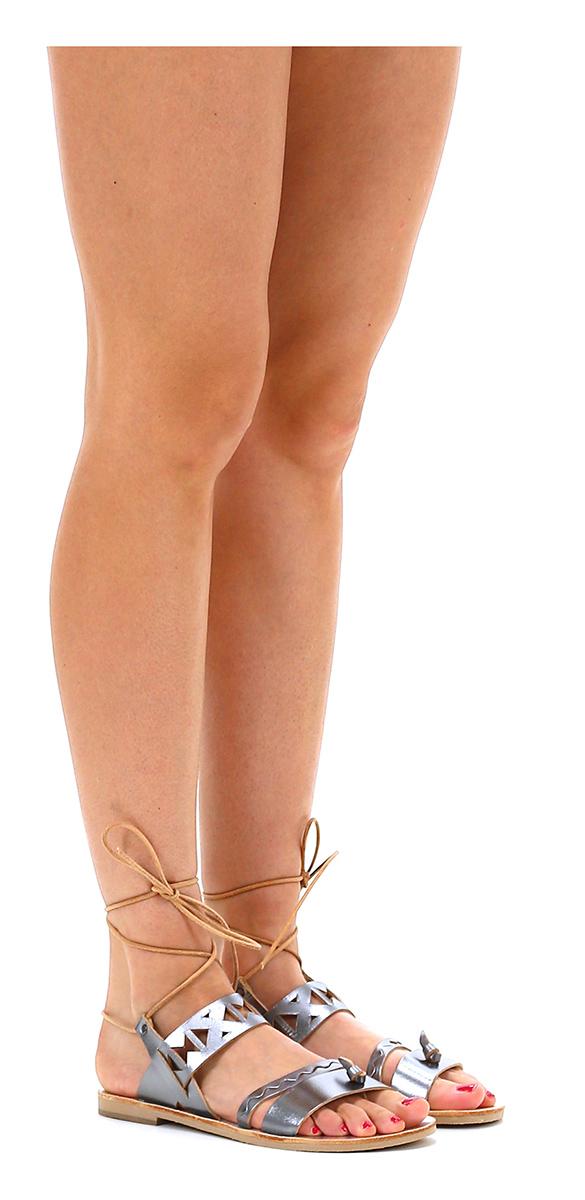 Sandalo basso Silver Grecian Chick Hohe Qualität