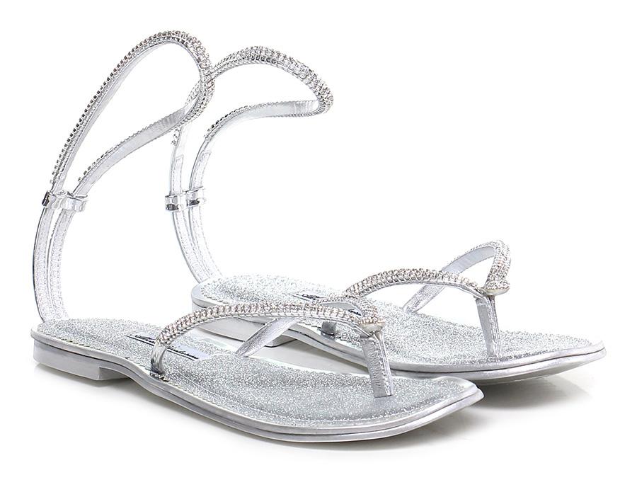 Sandalo basso Argento Alberto Venturini Mode billige Schuhe