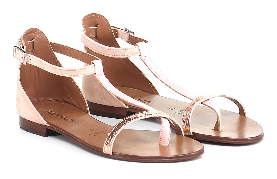 Sandalo Rosa/rame basso Rosa/rame Sandalo Antibes Mode billige Schuhe f4d953