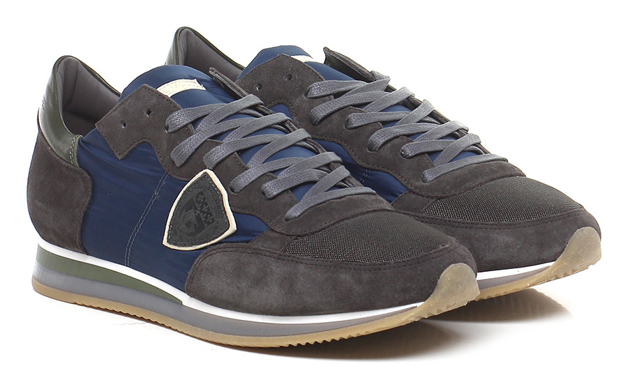 Sneaker Anthracite/blue/green Philippe Model Paris