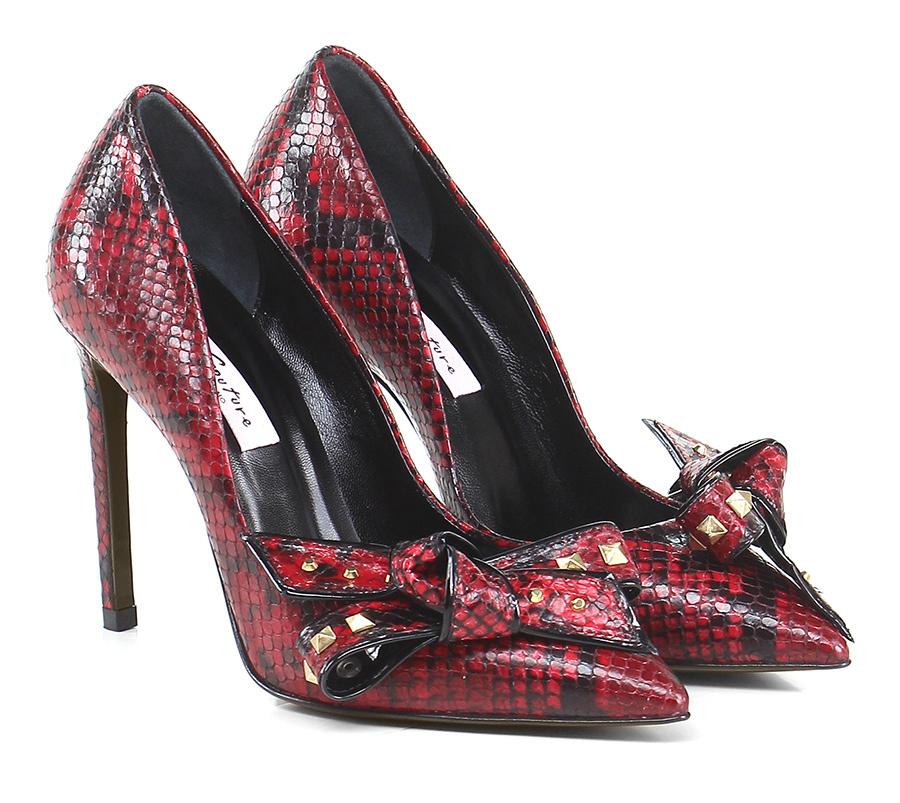 Scarpa con tacco Rosso/nero Couture