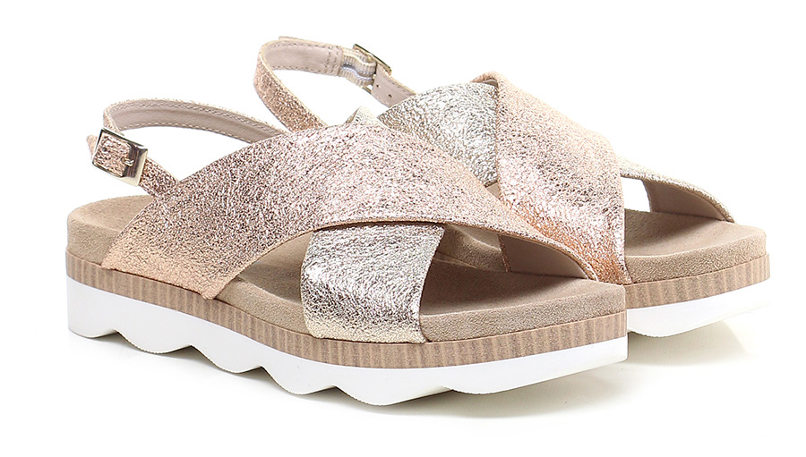 Sandalo basso Rame\platino Tosca Blu Shoes