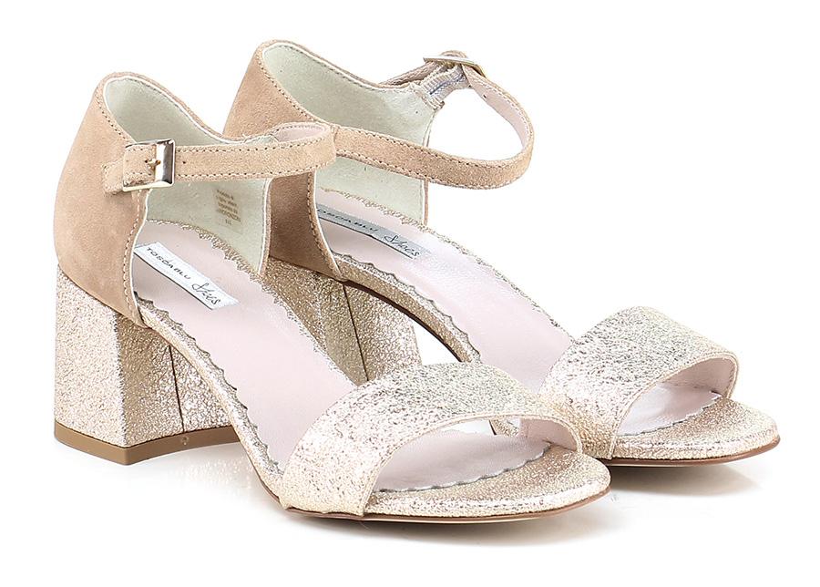 Sandalo alto  Platino\sabbia Tosca Blu Shoes