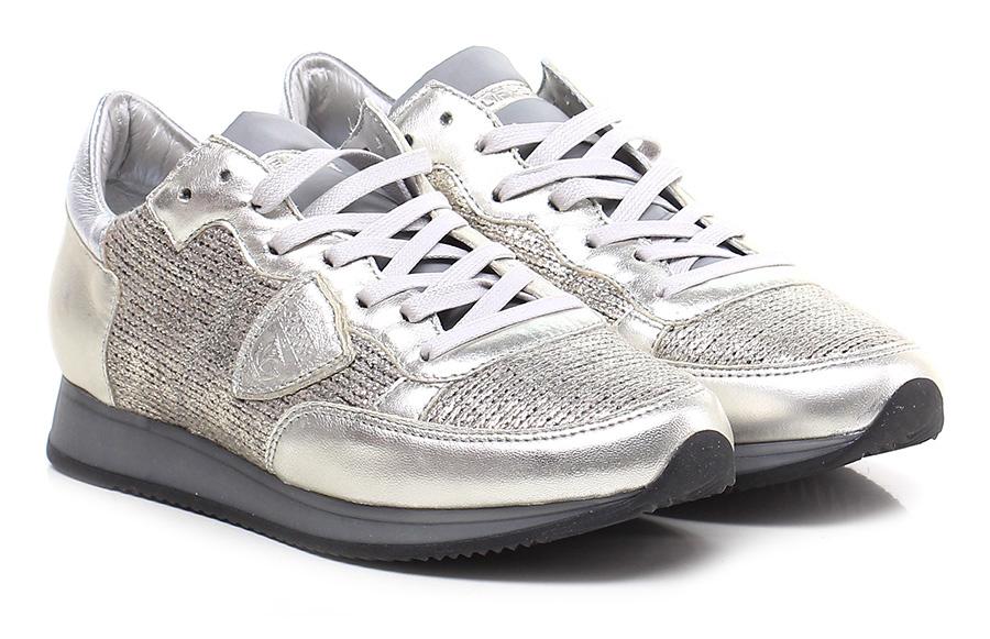 Sneaker Platinum\silver Philippe Model Paris