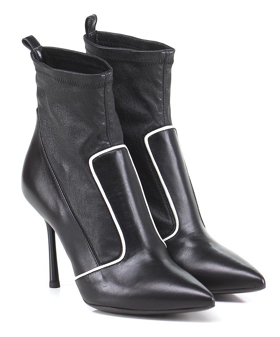 Tronchetto  Nero\bianco Couture Mode billige Schuhe