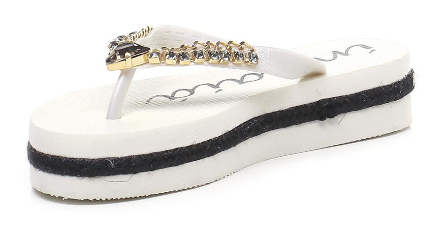 Sandalo basso Avorio Indaia Verschleißfeste billige Schuhe