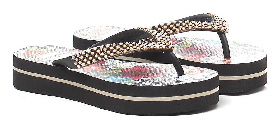 Sandalo basso Nero\multicolor Indaia Mode billige Schuhe