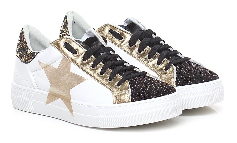 Sneaker Bianco\nero\oro Nira Rubens