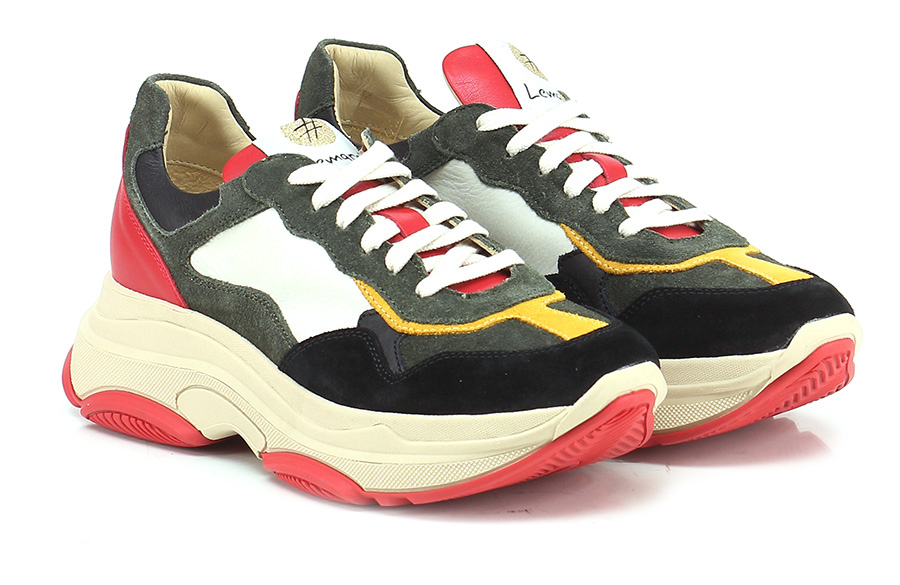 Sneaker Militare/rosso/giallo Lemare' Lemare' Lemare' Mode billige Schuhe cdf602