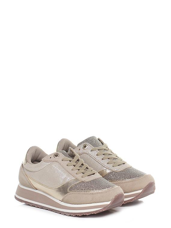 Sneaker Gold sand Tommy Hilfiger - Le Follie Shop e437b4cd6c5