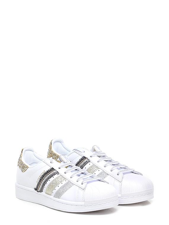 Sneaker strisce glitter
