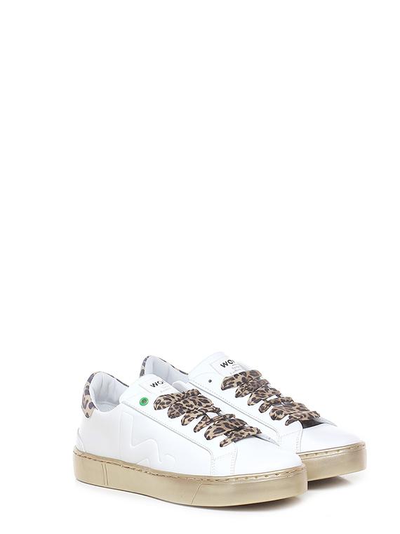 Sneaker white leopard