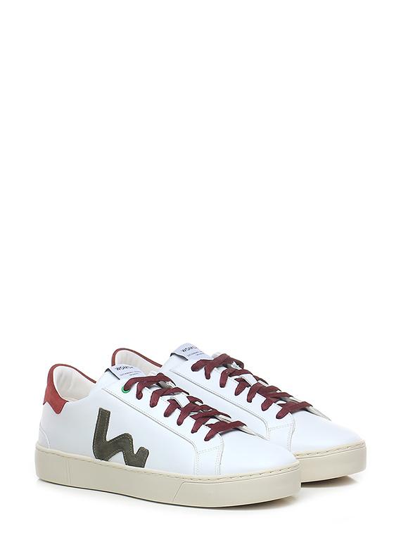 Sneaker snik white military red