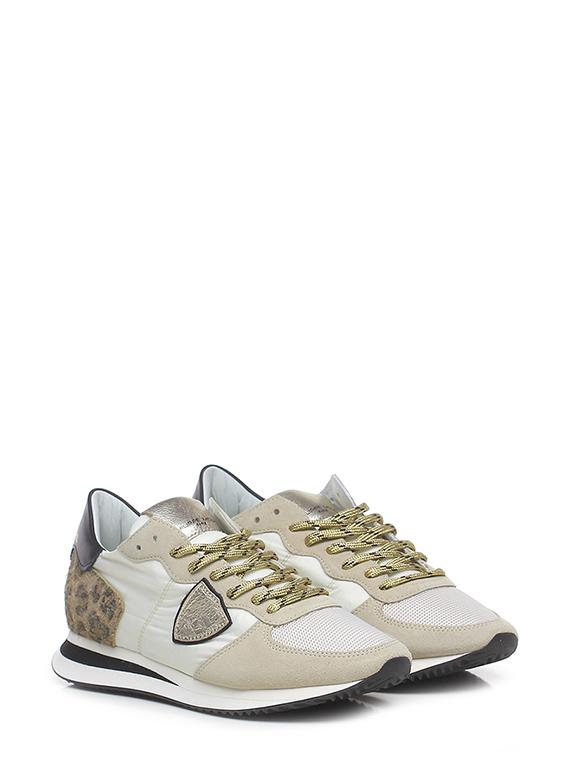 Sneaker trx low mondial animalier blanc