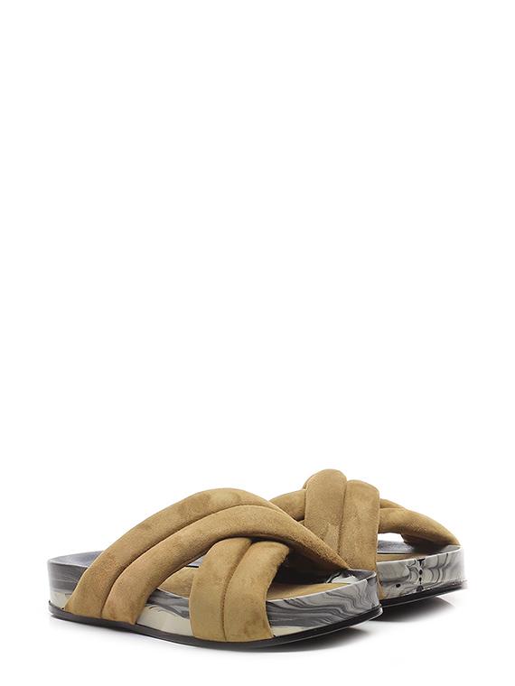 Sandalo basso marshmallow fango