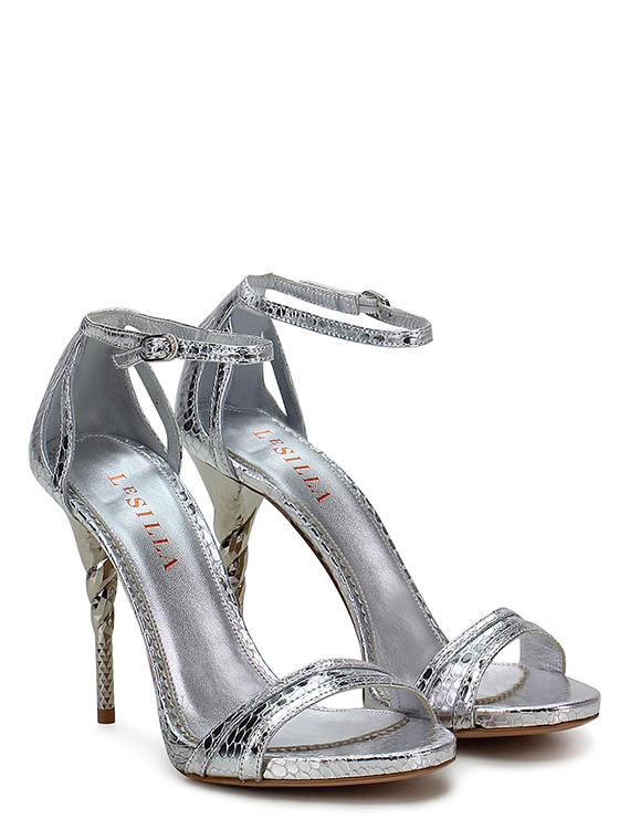 Sandalo alto Argento Le Silla Le Follie Shop