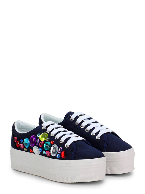 more photos fdfcf 31d9a Sneaker Navy\white JC Play by Jeffrey Campbell - Le Follie Shop