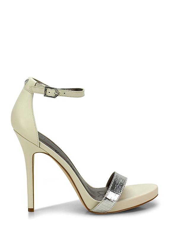 d7bf00be6209 High sandal Silver beige Sam Edelman - Group-Shoes