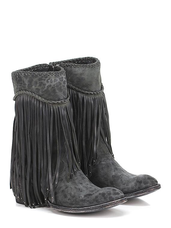 Boot Black leopard Mexicana - Le Follie Shop fb1e13e3a7a