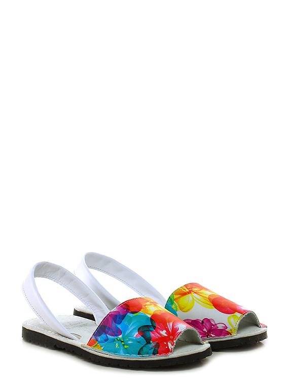 Sandalo basso Bianco/multicolor Avarca by C. Ortuno