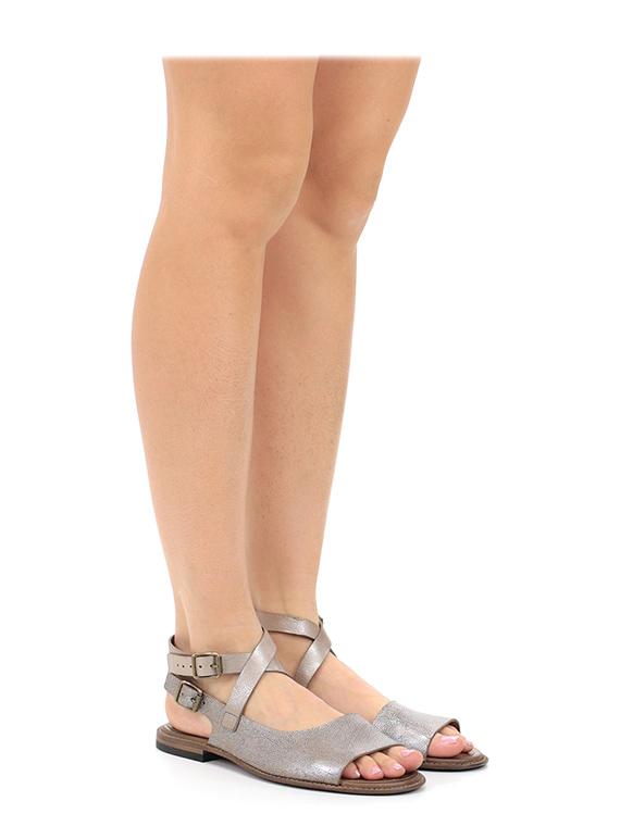 flache sandale platino pantanetti le follie shop. Black Bedroom Furniture Sets. Home Design Ideas