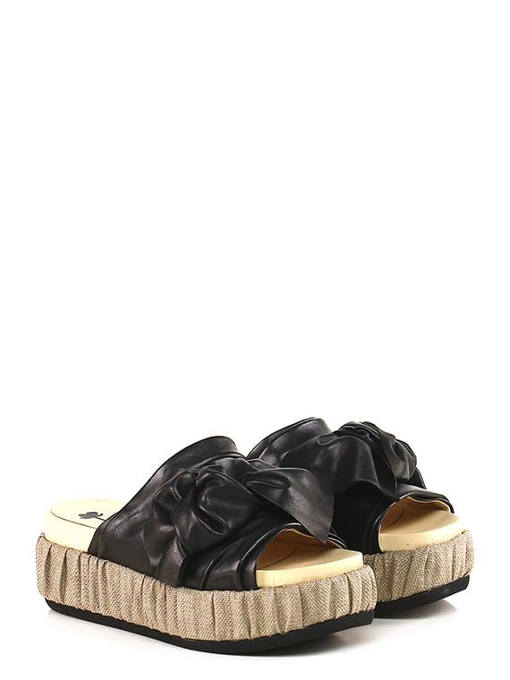 Fiori Francesi.Low Sandal Nero Fiori Francesi Le Follie Shop