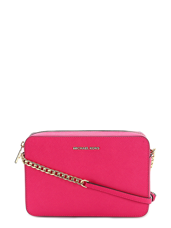 Michael Kors Borsa A Tracolla Ginny In Pelle Ultrapink Con