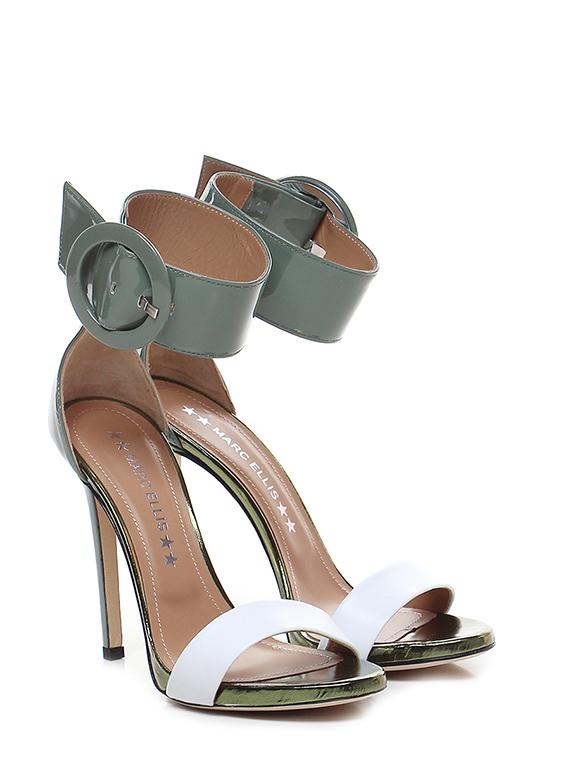 Sandalo donna marc ellis Militare/bianco Marc Ellis