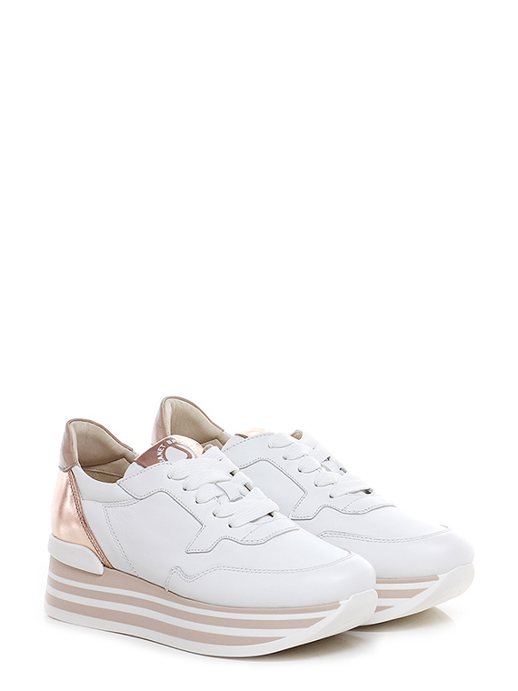 huge discount 9e48b 8c1af Sneaker Bianco/rame Janet Sport - Le Follie Shop