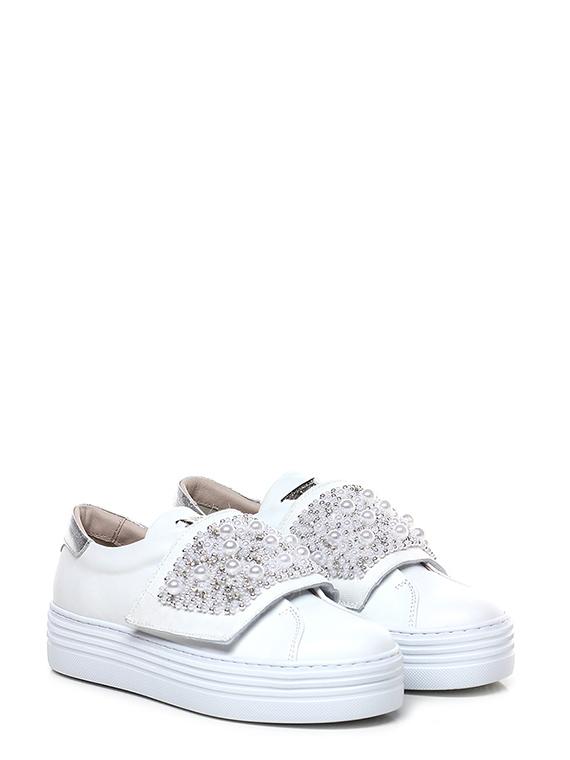 new style 83e37 cb817 Sneaker Bianco/argento Tosca Blu Shoes - Le Follie Shop