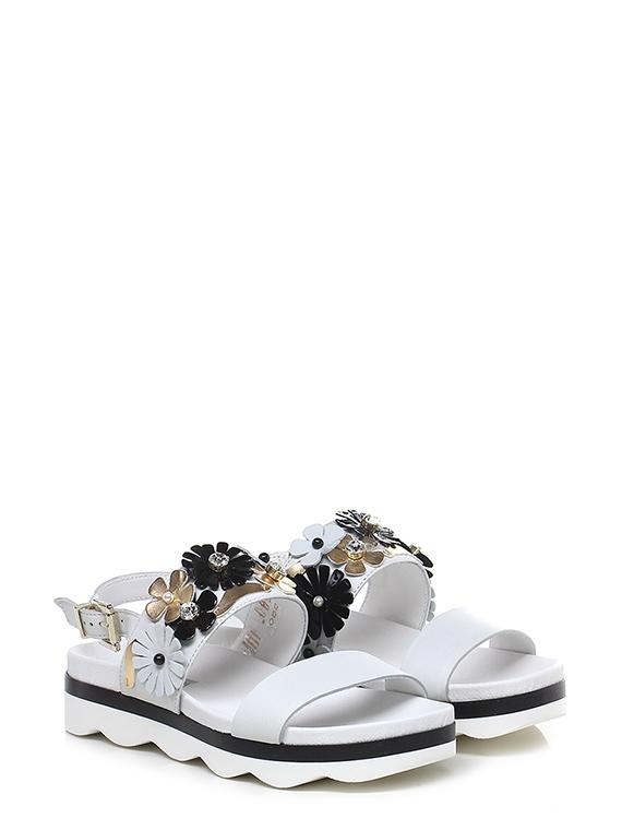 Sandalo basso Bianco Tosca Blu Shoes
