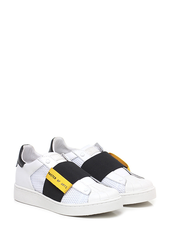 Sneaker Bianco nero ocra Moa Master Of Arts - Group-Shoes 3d6af4834e0