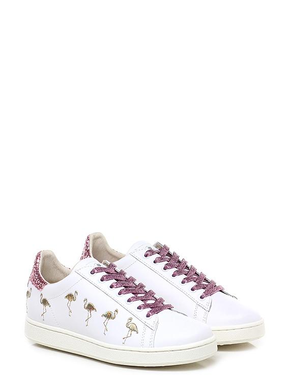 Sneaker Bianco/lilla Moa Master Of Arts