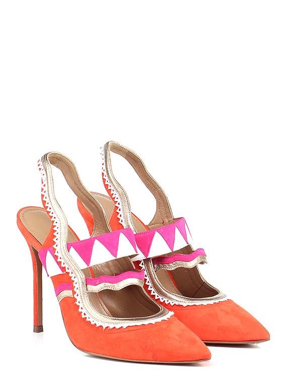Scarpa con tacco Arancio/fuxia/bianco Pura Lopez